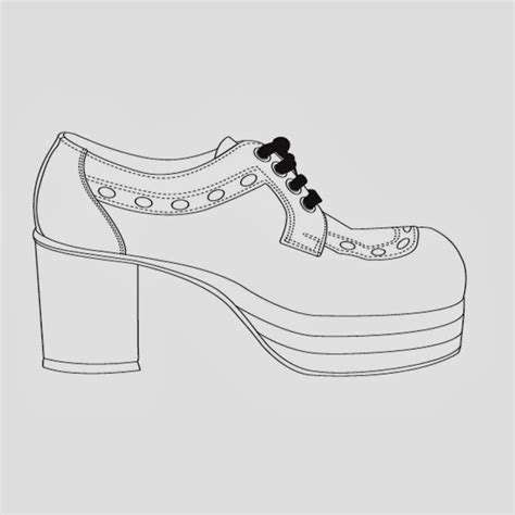shoe drawing template witch shoes templates oh my in