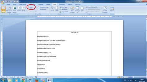 cara mudah membuat titik titik daftar isi pada microsoft word cara mudah membuat titik titik pada daftar isi tutorial