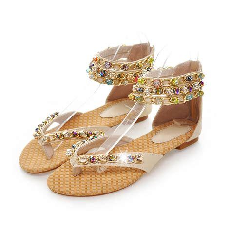 flat sandals for 2013 2013 sandals rhinestone flat shoes summer