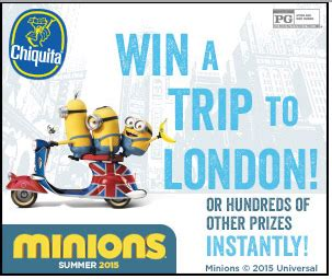Minions Sweepstakes - chiquita bananas minion sweepstakes extended for today only tons of prizes left