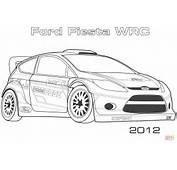 Coloriage  2012 Ford Fiesta WRC Coloriages &224 Imprimer Gratuits