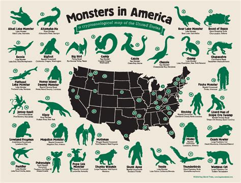 libro strange maps an a map of the united monsters of america big think