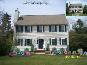 colonial house landscaping landscape design with rose