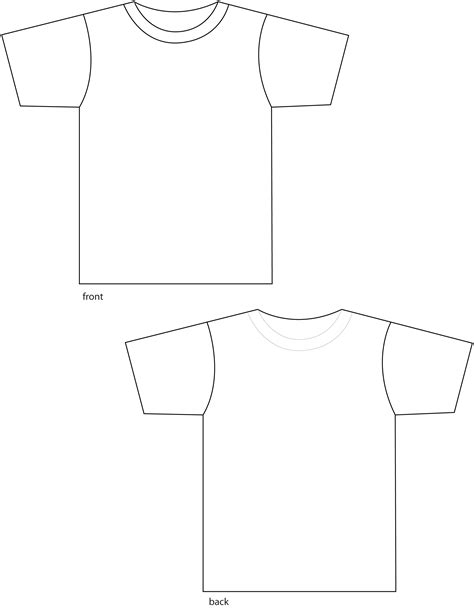t shirt template front and back t shirt front and back clipart 36