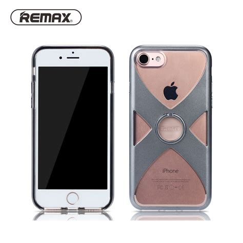 Remax Glitter Charming Series For Iphone 66s Gray mobile phone cases for apple iphone 7 original remax tpu pc frame ring holder stand phone