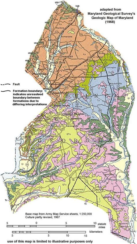 maryland bedrock map geologic maps of maryland prince georges county