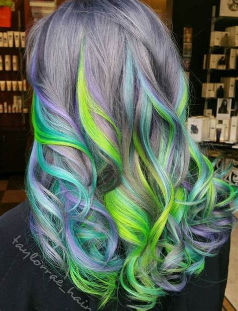 hairstyles with green highlights 20 gorgeous mermaid hair ideas from vibrant to pastel