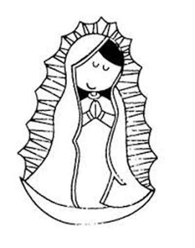 imagenes virgen de guadalupe blanco y negro dibujos bonitos de la v 237 rgen de guadalupe para ni 241 os