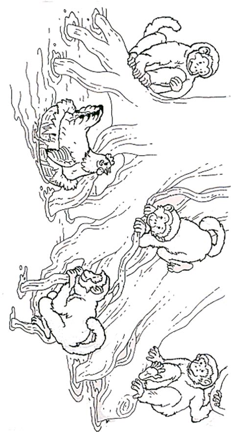 little monkey coloring pages free five little monkeys coloring pages