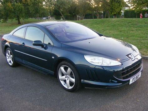 peugeot 407 coupe 2007 used peugeot 407 2007 petrol 3 0 v6 se 2dr coupe blue with