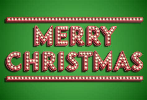 merry christmas font collection vector
