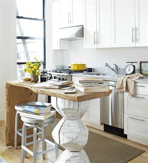 a unique small space kitchen island kitchen inspiration