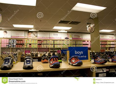 kid shoes stores shoe store editorial image cartoondealer 41482564
