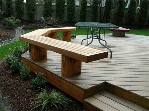 wood deck bench outdoor yards ideas benches ideas decks ideas decks