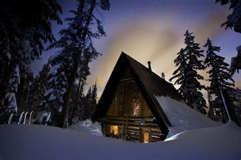 Snow Cabin Rentals by Rustic Ski In Cabins In Oregon And Sw Washington Forests