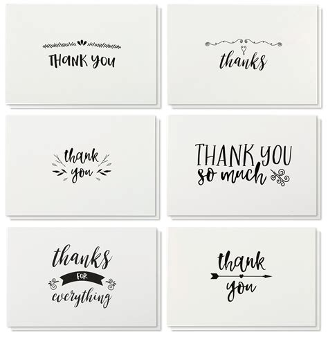thank you notes thank you cards 36 count thank you notes kraft paper