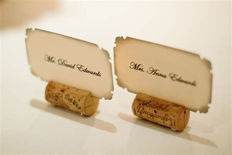 how to make cork place card holders bernadine s the got cork cork place card holders