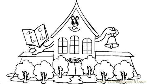 Coloring Pages School5 Education Gt School Free School Coloring Page Printable
