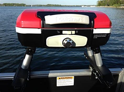 cuisinart boat grill cuisinart grill red modified for pontoon boat with arnall