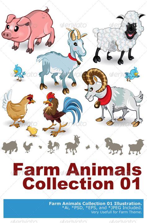 Animal Character 01 farm animals collection set 01 graphicriver