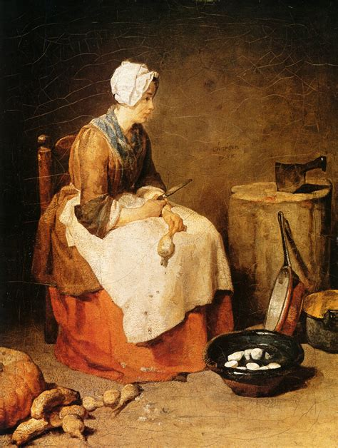 painting cooking the kitchen 1738 c 1740 jean baptiste simeon