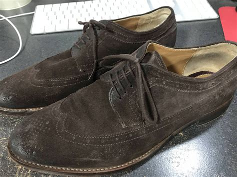 Fs Zara fs zara brown suede wingtip shoes size eu 42 9 9 5