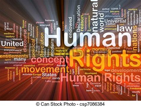 human rights background concept glowing background
