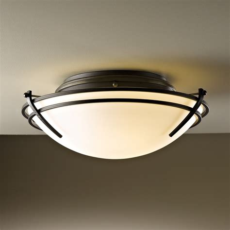 flush mount ceiling lights hubbardton forge 124402 skt 2 light tryne flush mount