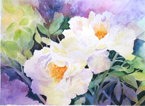fiori ad acquerello vaselli watercolors dipingere fiori ad acquarello