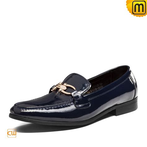 mens patent leather dress loafers shoes cw763315