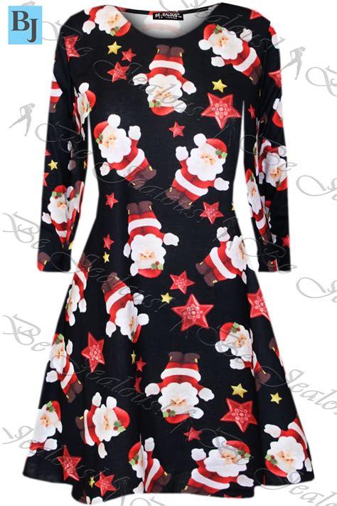 swing christmas womens kids christmas swing dress childrens santa gift