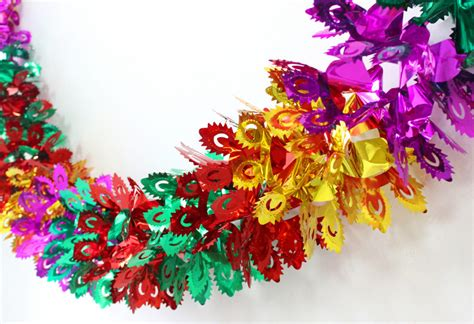 wholesale 10 pieces colorful hanging foil garland streamer