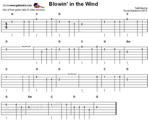 fingerstyle demons tutorial blowin in the wind guitar tab projects to try