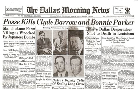 obituary headlines the dallas morning news bonnie and clyde wisconsin historical society online store