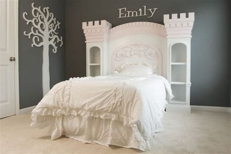 princess castle headboard princess castle bed heck i want this design pinterest