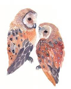 water color owl etsy owl painting watercolor image 178897 on favim