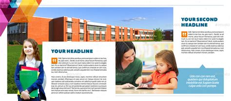 Elementary School Brochure Template By Interado Graphicriver Elementary School Brochure Template
