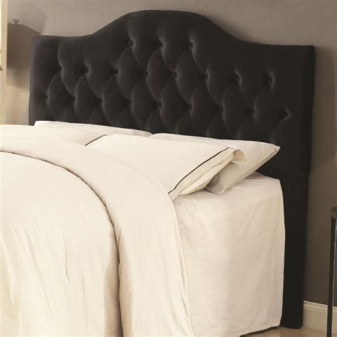 Upholstered Black Headboard Upholstered Headboard In Black Velvet Nader S Furniture