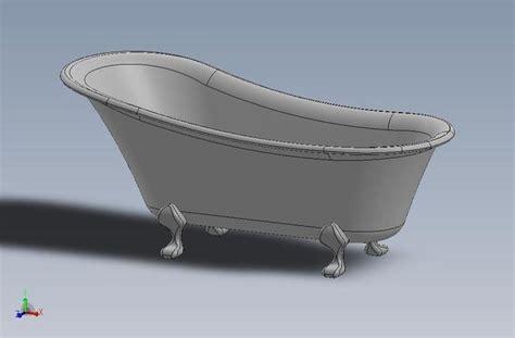 bathtub models clawfoot bathtub free 3d model sldprt sldasm slddrw ige igs iges cgtrader com