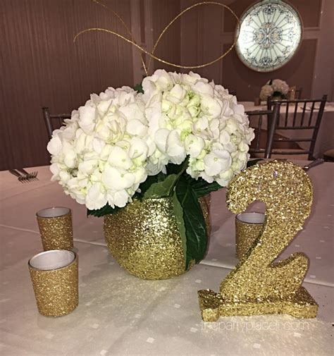 Glitter Vase Centerpiece by Centerpieces The Place Li The Specialists