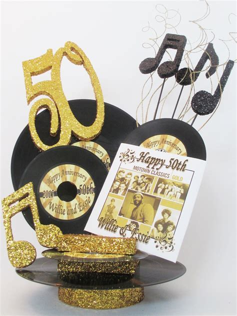"50th anniversary motown centerpiece   60""s party"