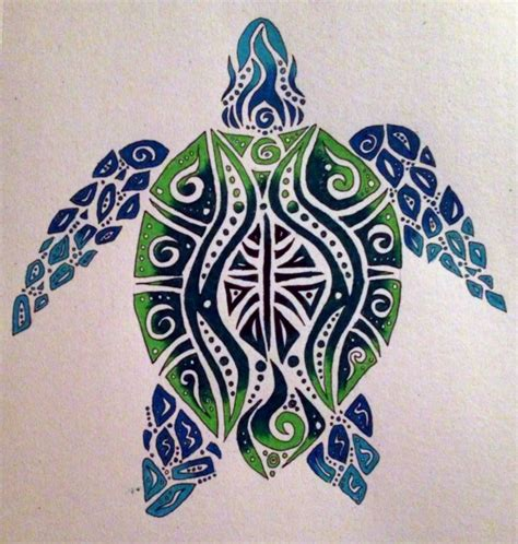 tribal sea tattoos i really like the colors and but would want a