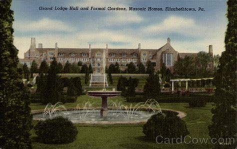 grand lodge and formal gardens masonic homes