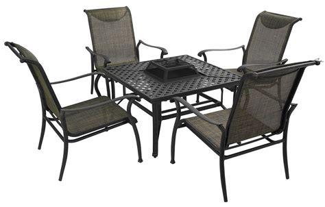 metal garden furniture with fire pit saturn steel outdoor