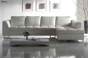 White Sofas Leather White Leather Sectional Sofa Design Plushemisphere