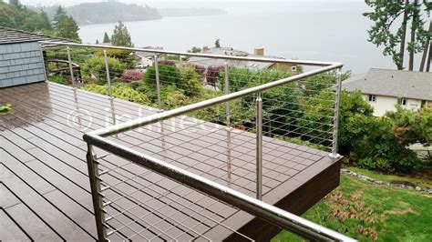 Stainless Steel Railing Systems Round Middle Post for