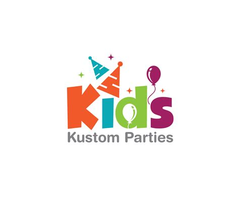 Home Fashion Design Jobs playful modern logo design for kids kustom parties by