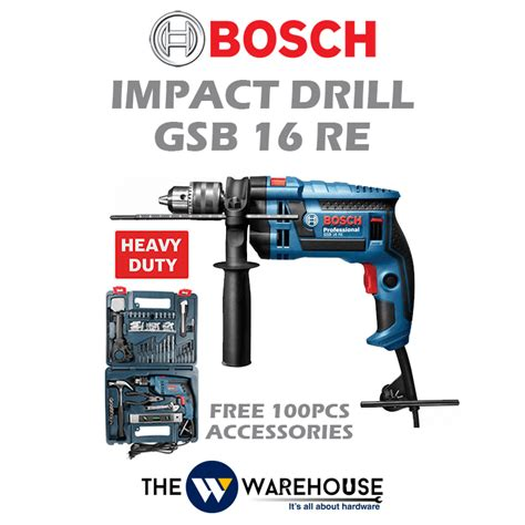 Bosch Gsb 16 Re Impact Drill bosch impact drill gsb 16 re malaysia thewwarehouse