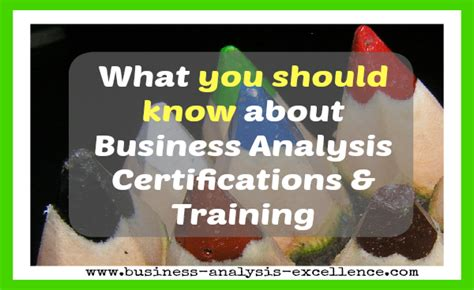 Course On Businesses What You Should by Business Analysis Certification Advice