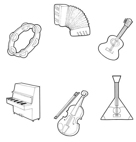band instruments coloring pages musical instruments coloring pages to download and print